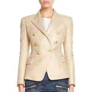 Jackets & Blazers - Double Breasted Blazer with Gold Buttons